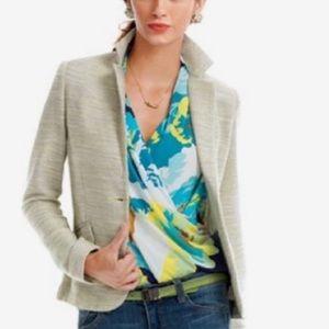 CAbi Lemon Zest 713 Tweed Blazer Size 8
